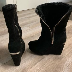 Juicy Couture Black Wedge Boots